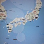 台風11号の動き(7月15日時点)