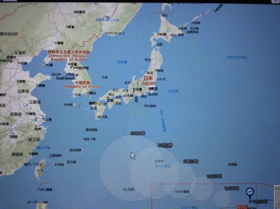 SPORES2015  7月18日の天気図